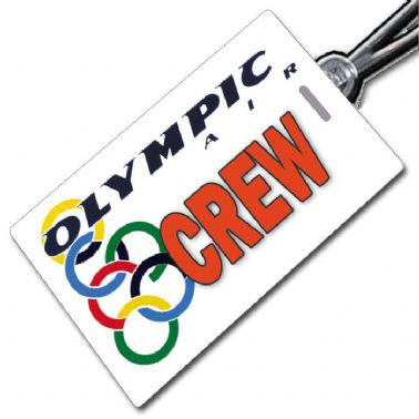 Olympic Air Crew Tag